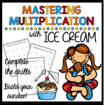 Multiplication Drills & Ice Cream Activity