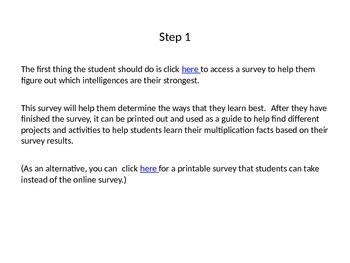 Mastering Multiplication with Multiple Intelligences