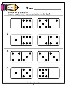Mastering My Numbers: 6 & 7 TEST Kindergarten Worksheets
