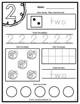 Mastering My Numbers Book 1: Kindergarten Worksheets