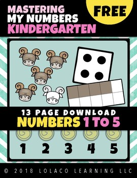 Kindergarten Number Sense: (NO PREP) Book 1