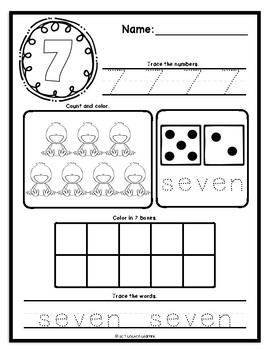 Mastering My Numbers Book 2: Kindergarten Worksheets