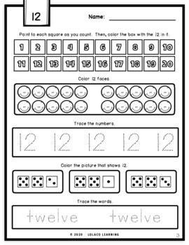 Mastering My Numbers: Number 12 Kindergarten Worksheets