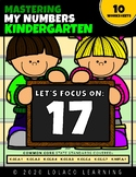 Mastering My Numbers: Number 17 Kindergarten Worksheets