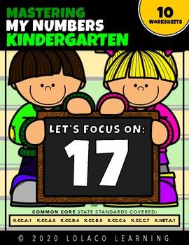 Mastering My Numbers: Number 17 Kindergarten Worksheets