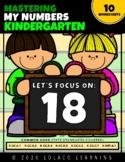 Mastering My Numbers: Number 18 Kindergarten Worksheets