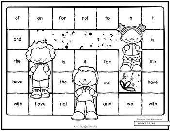 Mastering My Sight Words - Game Set 1