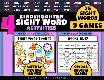 Mastering My Sight Words - Game Set 4