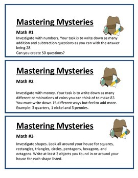 Mastering Mysteries - Year long task cards
