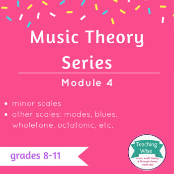 Music Notation Unit - Class 6 - Minor Scales