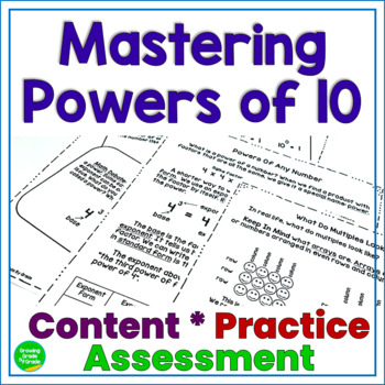 Powers of 10 Mastery: Content-Practice-Assessment 5.NBT.1 and 5.NBT.2