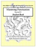 Mastering Punctuation Level 1: Student Book
