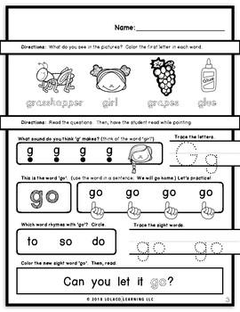 Kindergarten Sight Words: (NO PREP) Book 10
