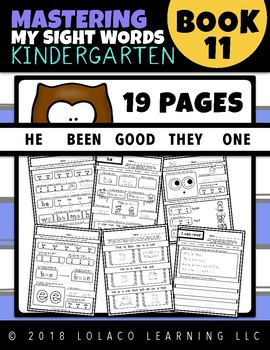 Kindergarten Sight Words: (NO PREP) Book 11