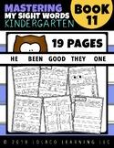 Mastering Sight Words Book 11: Kindergarten Worksheets