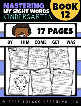 Kindergarten Sight Words: (NO PREP) Book 12