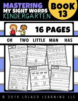 Kindergarten Sight Words: (NO PREP) Book 13