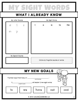 Kindergarten Sight Words: (NO PREP) Book 2