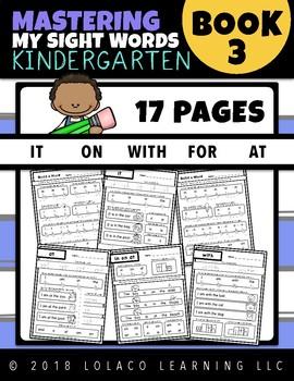 Kindergarten Sight Words: (NO PREP) Book 3