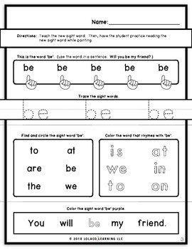 Mastering Sight Words Book 5: Kindergarten