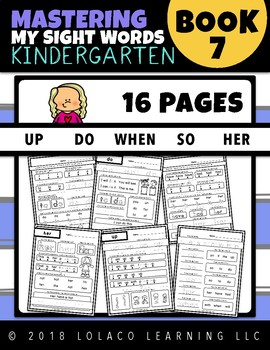 Kindergarten Sight Words: (NO PREP) Book 7