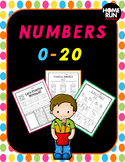 Numbers 0-20 writing, number correspondence and identify