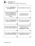 Mastering TOEFL Vocabulary: Broken Sentence Activity Cards 1 - 10