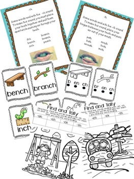 Mastering Those Tricky Digraph Endings -ch, -sh, -th, -ck Center Activities