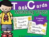 Mastering Verbs Task Cards {24 Irregular Verb Task Cards +