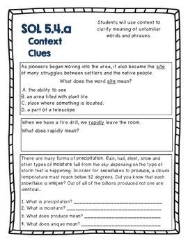 Mastering Vocabulary Practice and Assessment (VA SOL ELA 5.4)