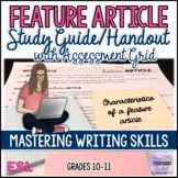 Essay Writing: Feature Article Study Guide and Rubric