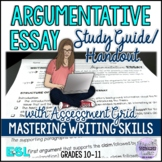 Essay Writing: Argumentative Essay Study Guide and Rubric