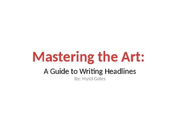 Mastering the Art: A Guide to Writing Headlines