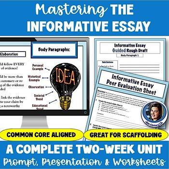 Mastering the Common Core Informative Essay: 2-Week Unit Bundle