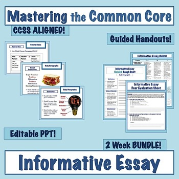 Mastering the Common Core Informative Essay: 2-Week Unit Bundle