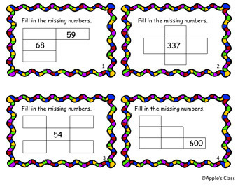 Hundreds Chart Puzzles Task Cards