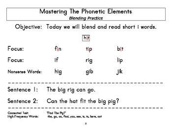 Mastering the Phonetic Elements: Short Vowels