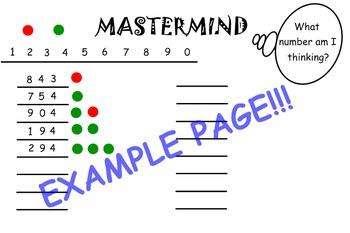 Mastermind Logic Game