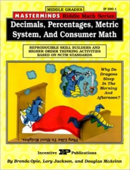 Masterminds Riddle Math: Dec., Percent., Metric Syst, and