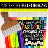 Hallway Bulletin Board Set with a Masterpiece Paintbrush Theme