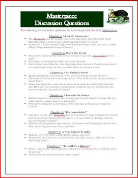 Masterpiece Higher Level Discussion Questions Common Core Standards