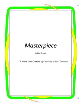 Masterpiece Novel Unit Plus Grammar