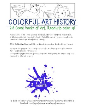 Twenty-seven Famous Works of Art to Color