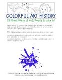Twenty-seven Famous Works of Art to Color