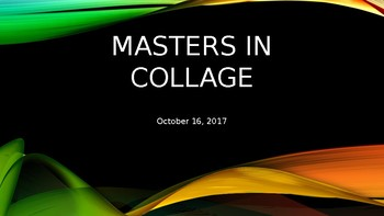 Masters in Collage