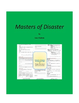 Masters of Disaster Complete Literature and Grammar Unit