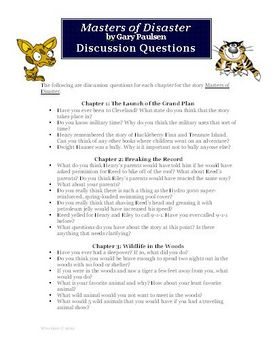 Masters of Disaster Novel Unit Discussion Questions