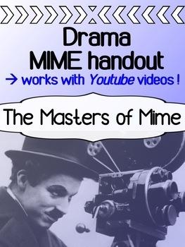 Drama - Masters of Mime Youtube Worksheet