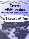 Drama - Masters of Mime Youtube Worksheet
