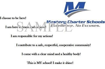 Mastery Charter Code of Conduct Poster